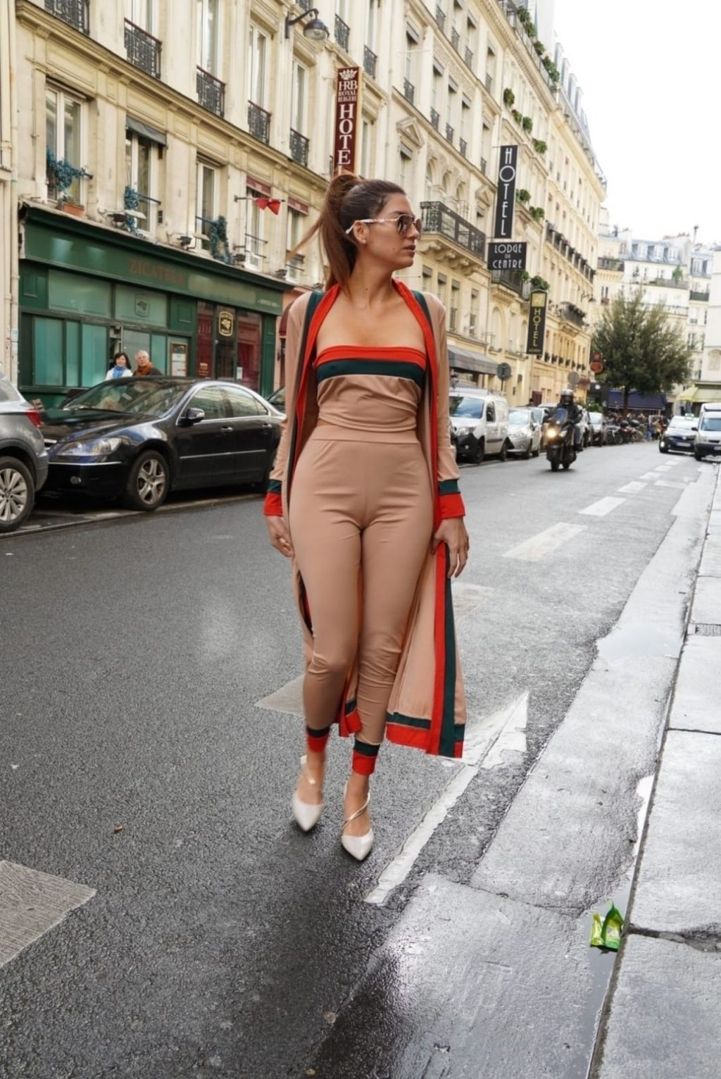 Blanca Blanco Shows Her Hard Nipples in Paris (23 Photos)