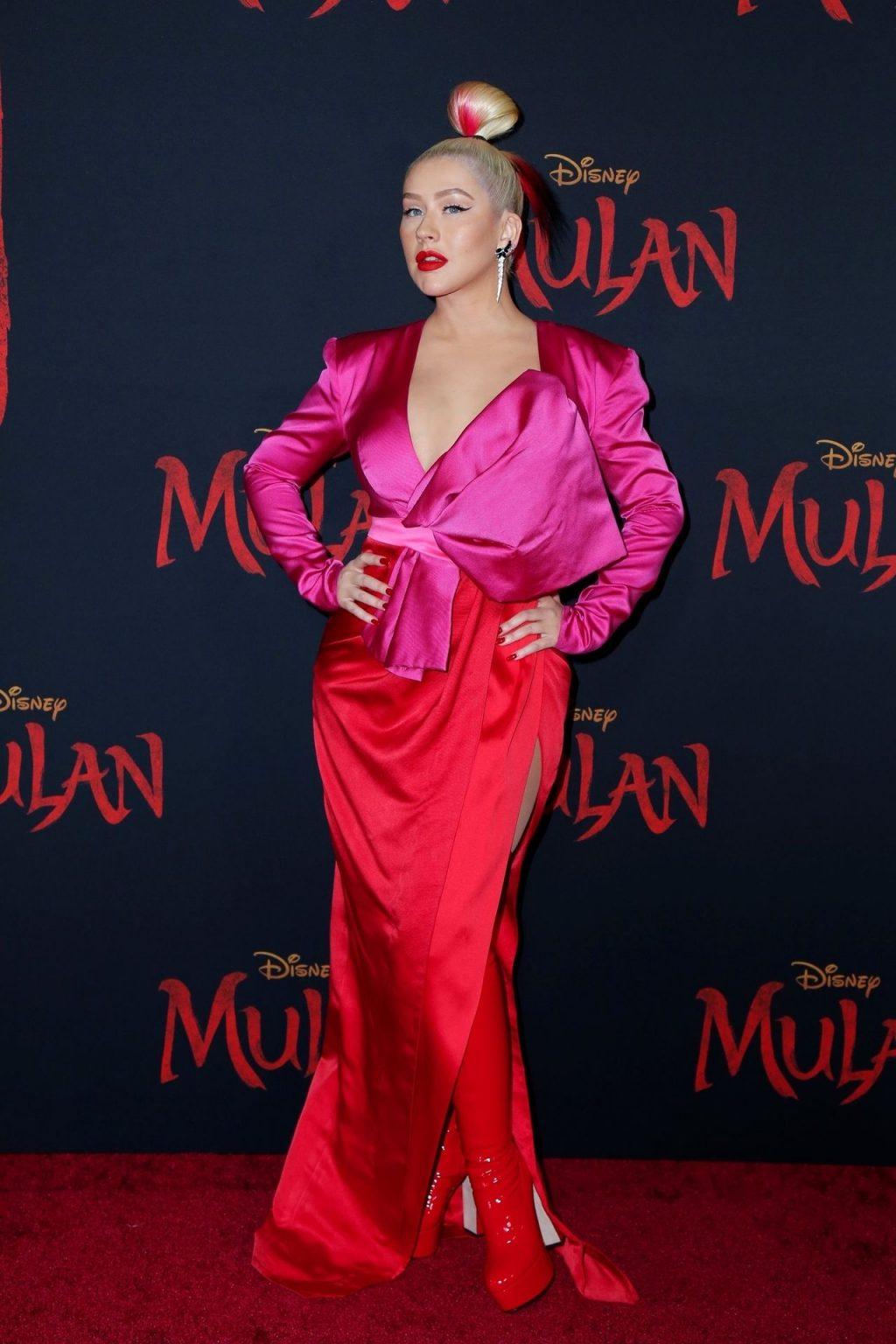 Christina Aguilera Attends the Premiere of Disney's Mulan in LA (96 Photos)