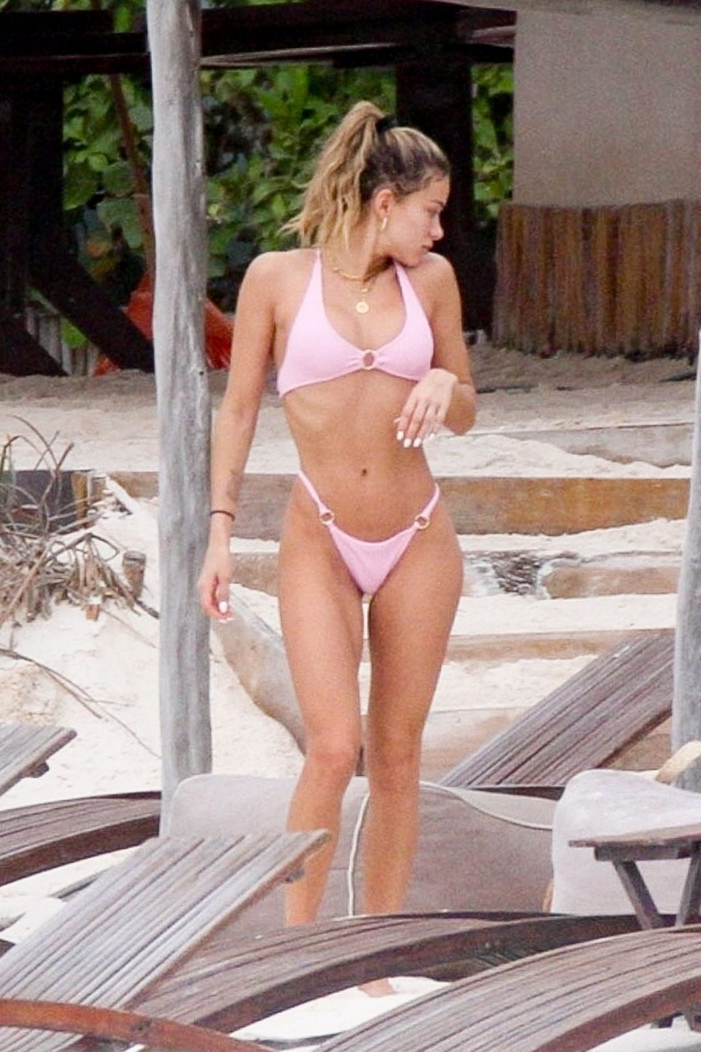 Cindy Prado Shows Off Her Figure in a Pink Bikini (38 Photos)