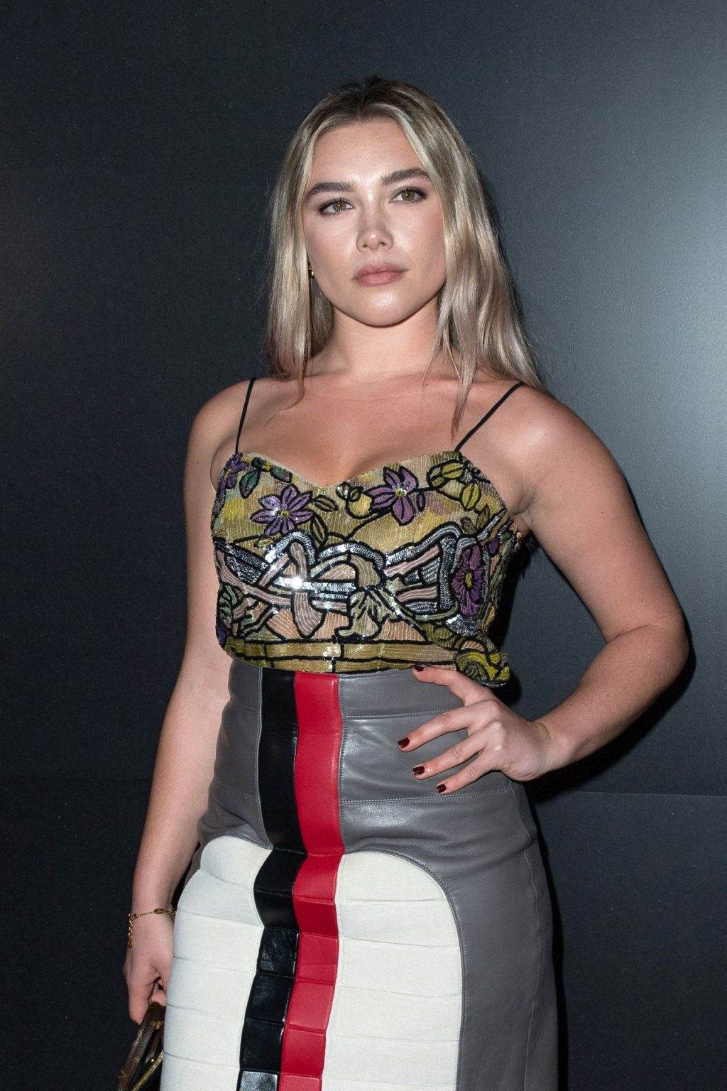 Florence Pugh Shows Her Cleavage & Panties at the Louis Vuitton Fashion Show (56 Photos)