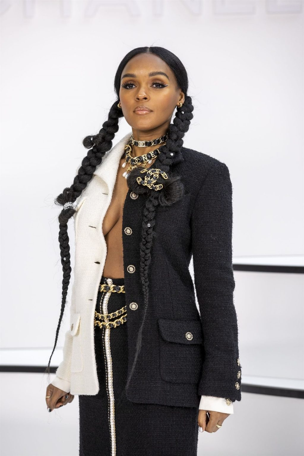 Janelle Monae Shows Her Tits at the Chanel Show (54 Photos)
