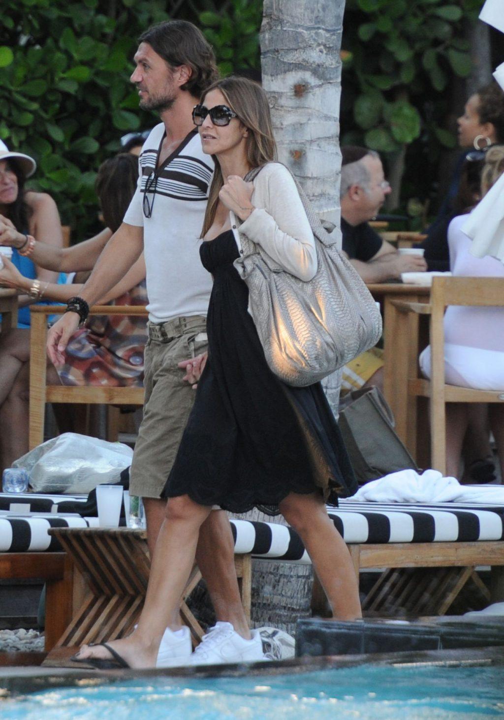 Paolo Maldini & Adriana Fossa Was Spotted in Miami (16 Photos)