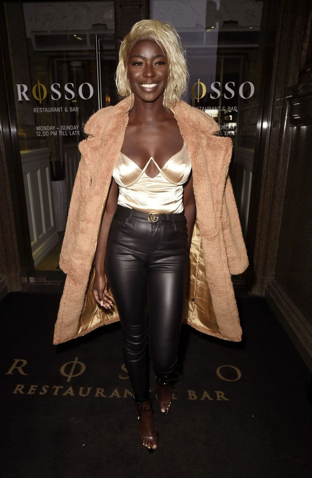 Priscilla Anyabu Looks Sexy at the Rosso Restaurant in Manchester (13 Photos)