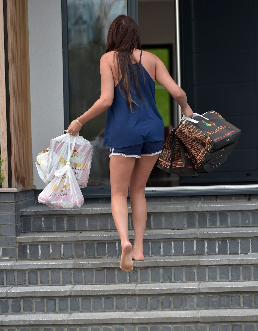 Charlotte Crosby Takes in Large Food Order Wearing PJ's (22 Photos)