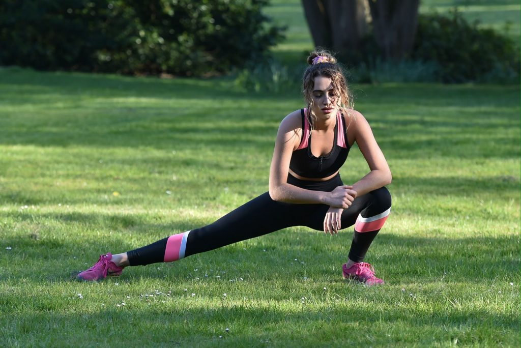 Georgia Harrison Gets In Her Daily Exercise As She Works Out In Essex (14 Photos)