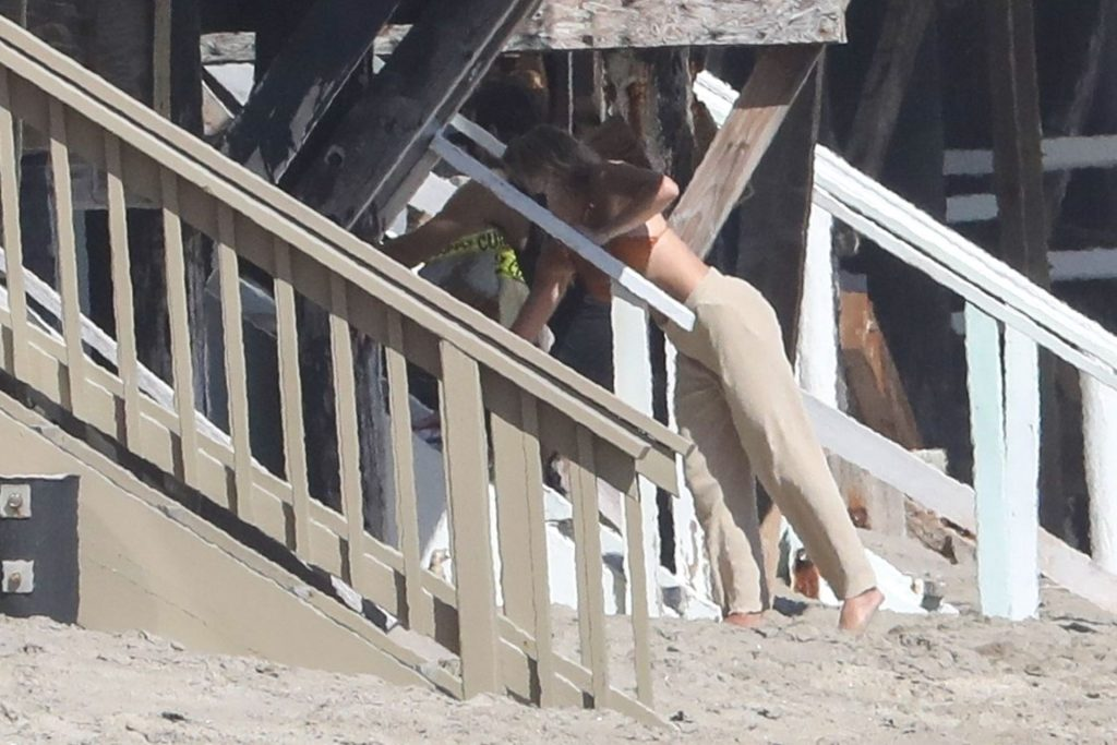 Sofia Richie Holds On Tight to Scott Disick as They Have Some Fun Riding on the Beach (23 Photos)