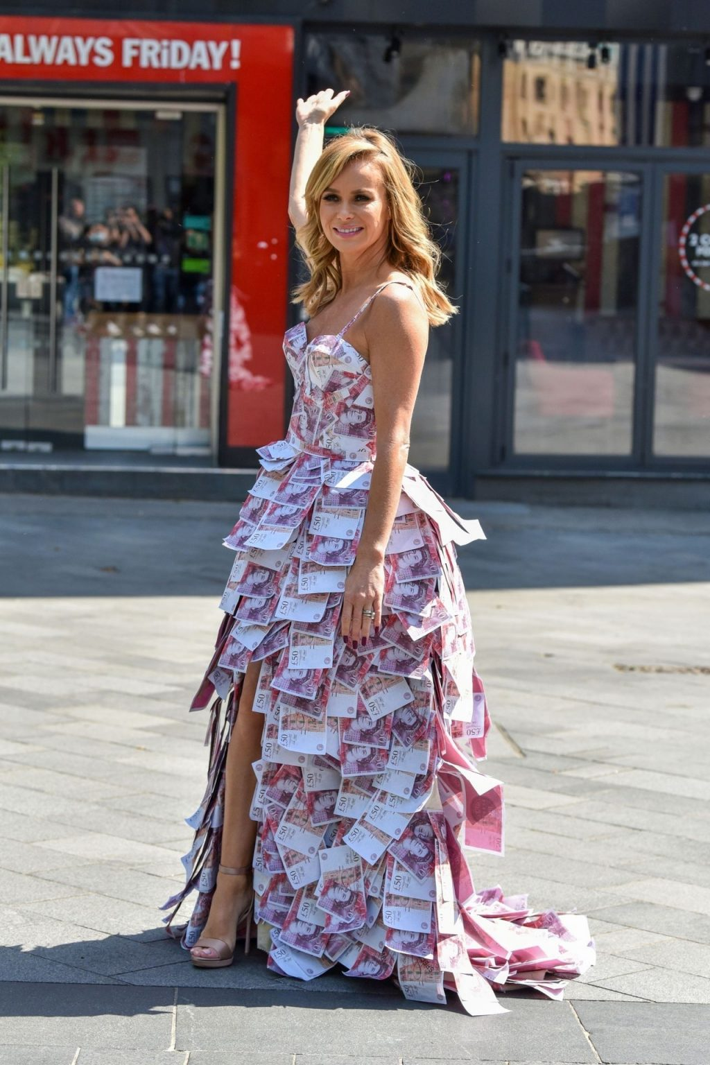 Amanda Holden Steps Out in a Money Dress on Make a Millionaire Competition Day (49 Photos)