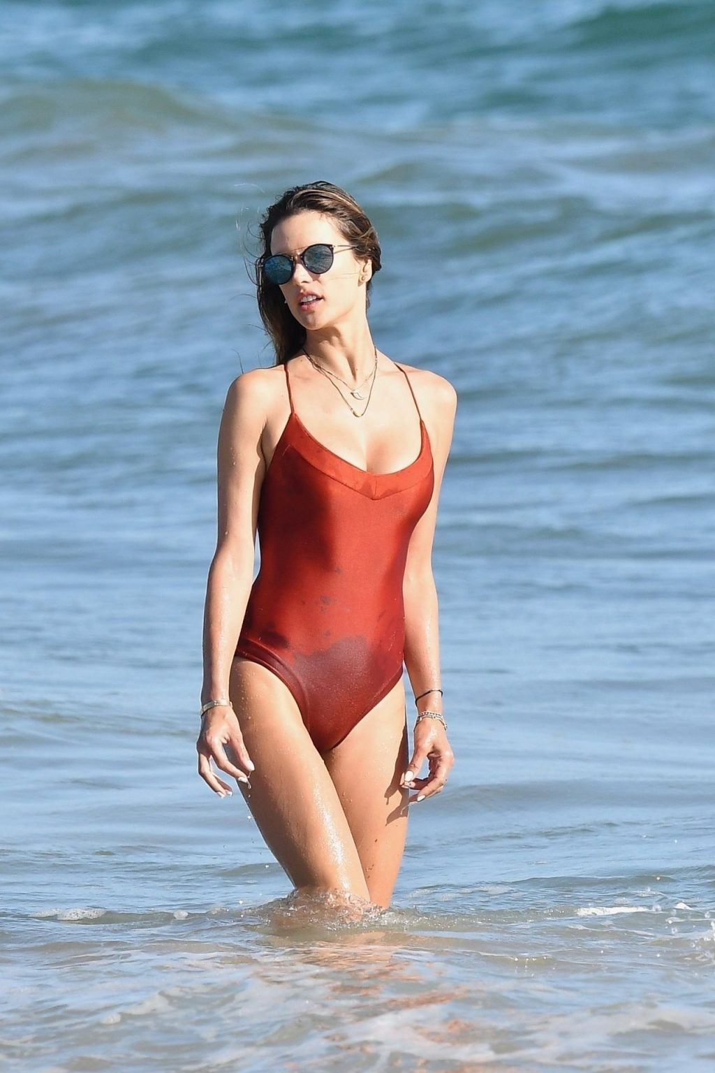 Sexy Alessandra Ambrosio Stuns on the Beach in Malibu (61 Photos)