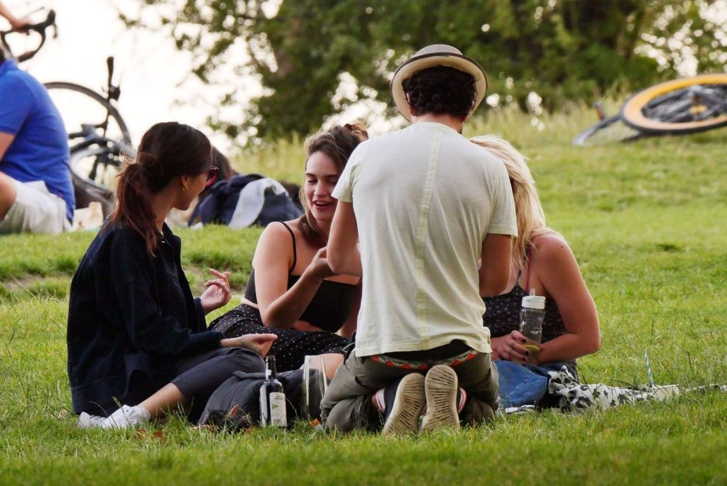 Lily James Is Pictured with Billie Piper & Gemma Chan in the Park in London (59 Photos)