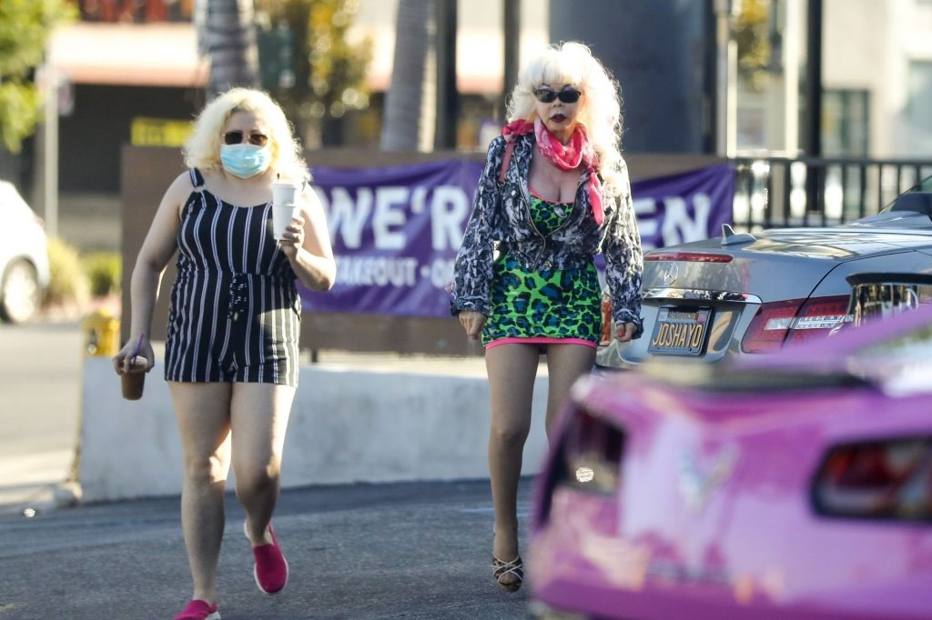 "Angelyne Flashes Her ""Roses"" in WeHo (44 Photos)"