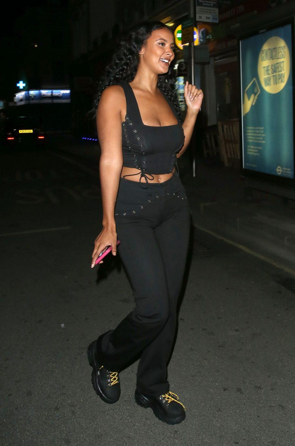 Maya Jama Enjoys a Night Out at Sexy Fish Restaurant in Mayfair (39 Photos)