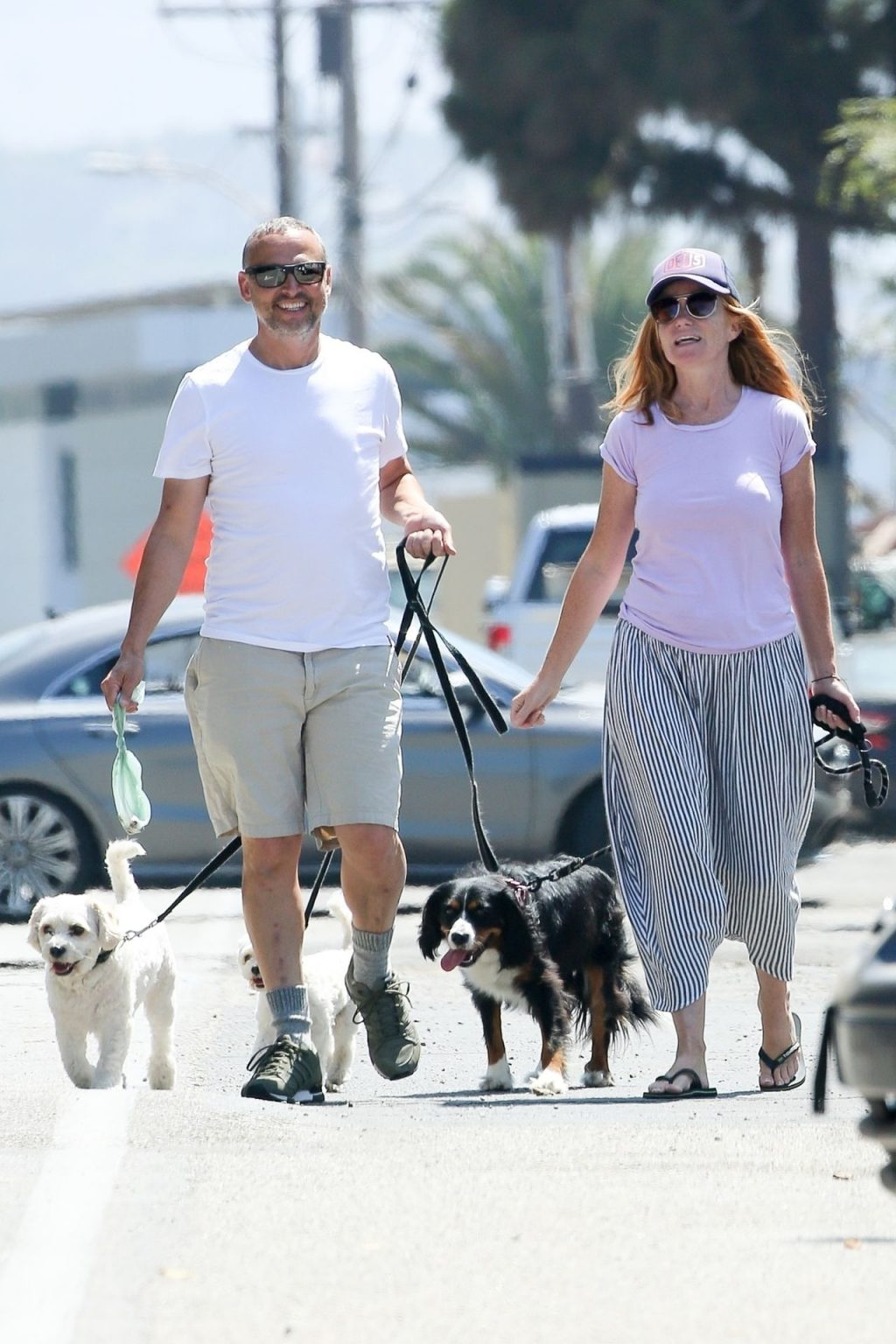 Patsy Palmer & Richard Merkell are Taking the Dogs for a Walk (20 Photos)