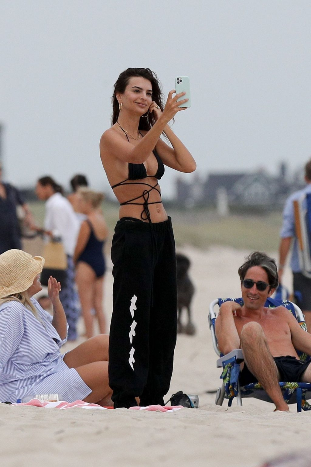 Emily Ratajkowski Shows Her Abs at the Beach in The Hamptons (64 Photos)