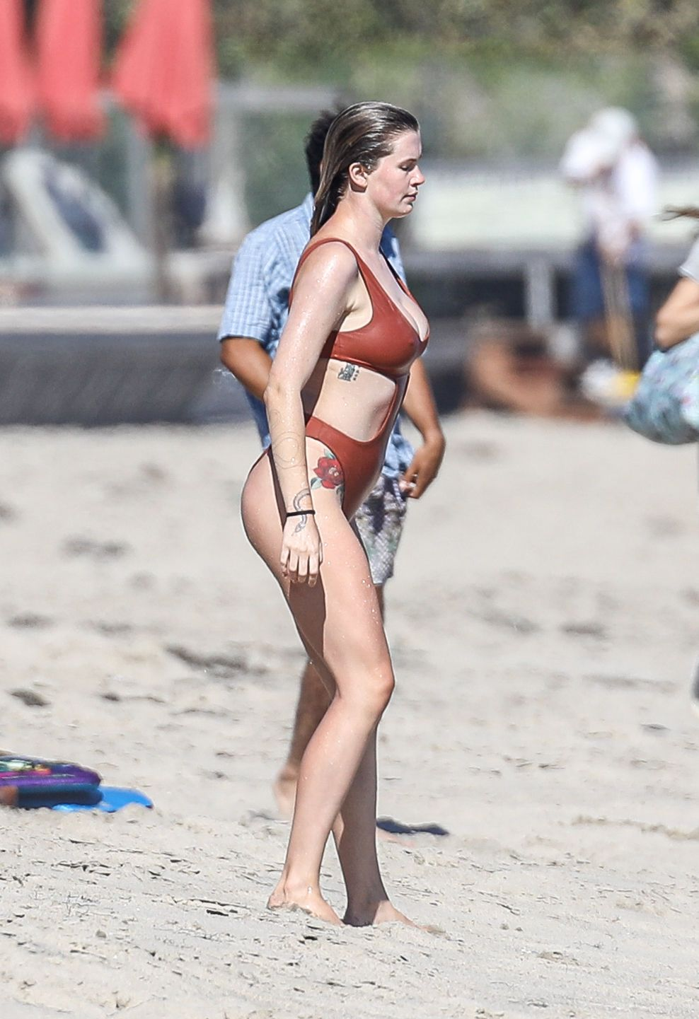 Ireland Baldwin Shows Off Her Pokies on the Beach (62 Photos)