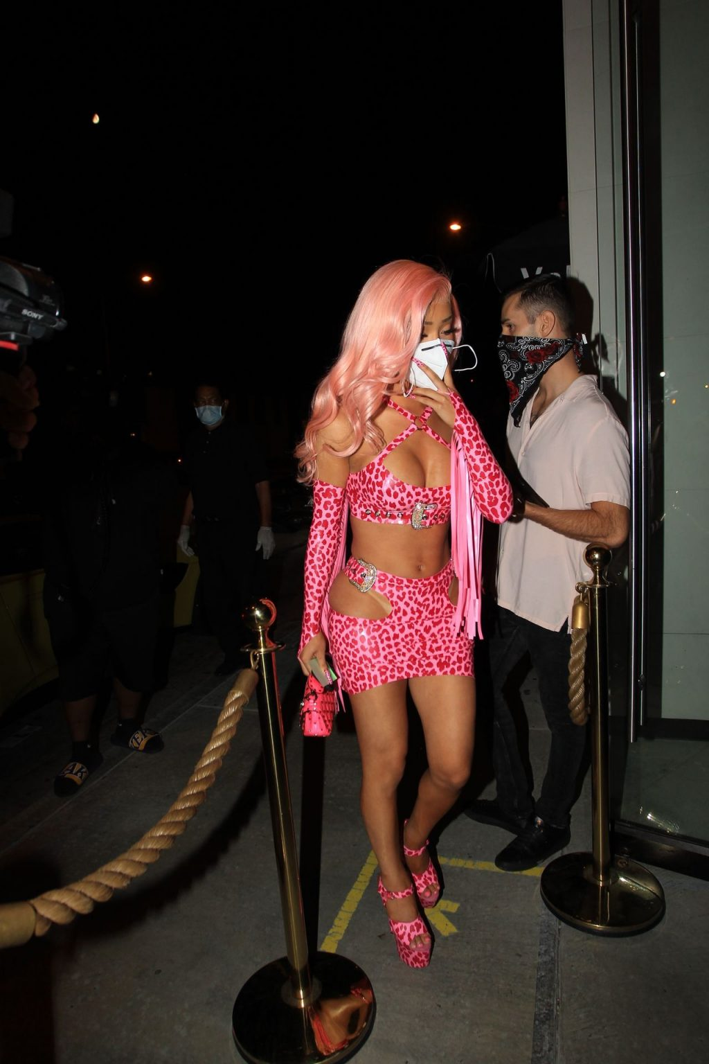 Nikita Dragun Gets Provide a Face Mask Before Entering Catch in Hollywood (27 Photos)