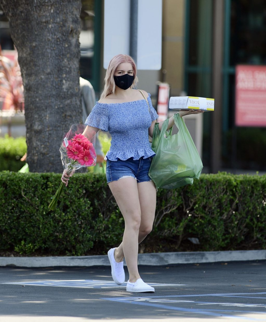 Leggy Ariel Winter Picks Up Flowers and a Cake in Los Angeles (20 Photos)
