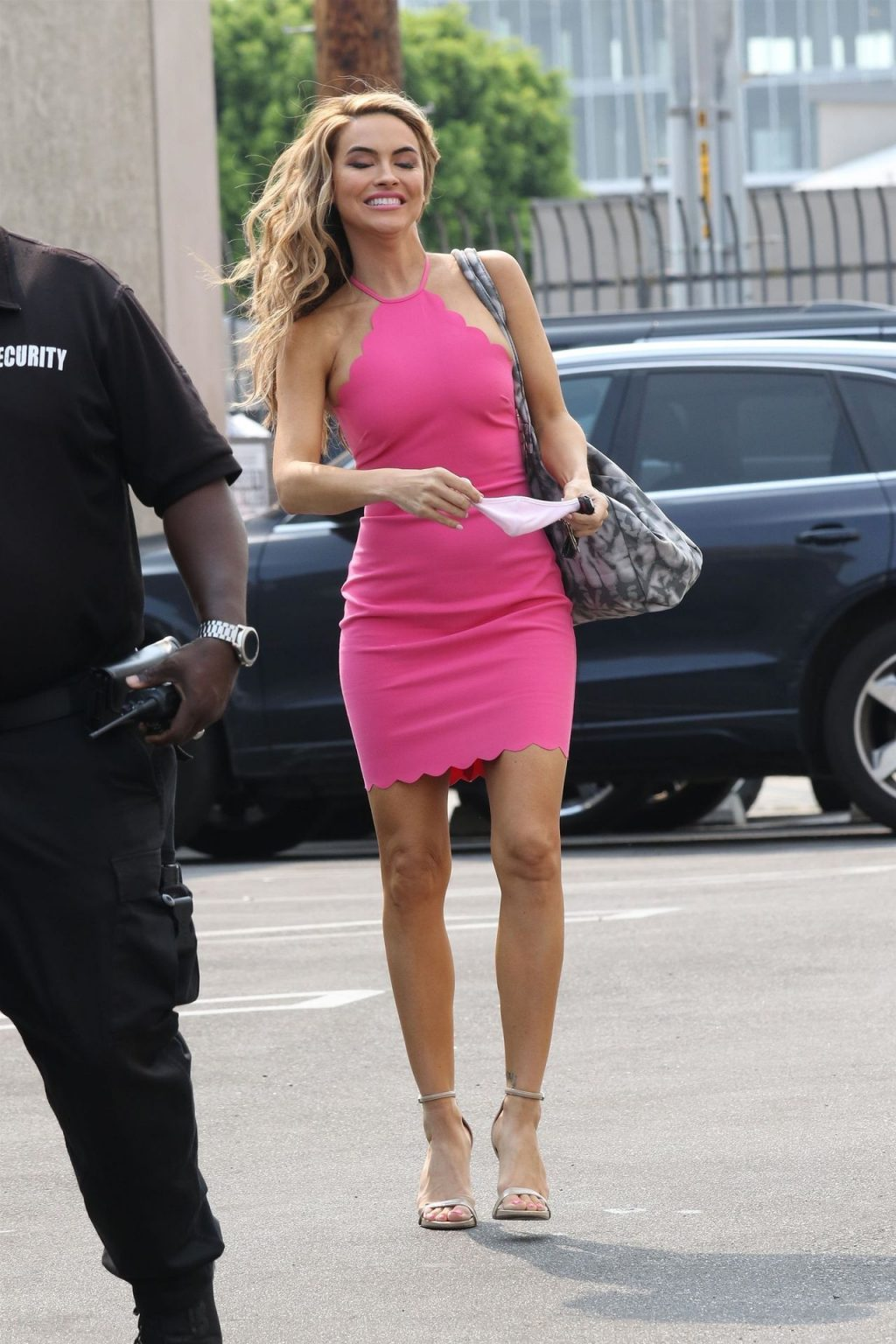 Chrishell Stause Stuns in a Hot Pink Dress at the Dance Studio (35 Photos)