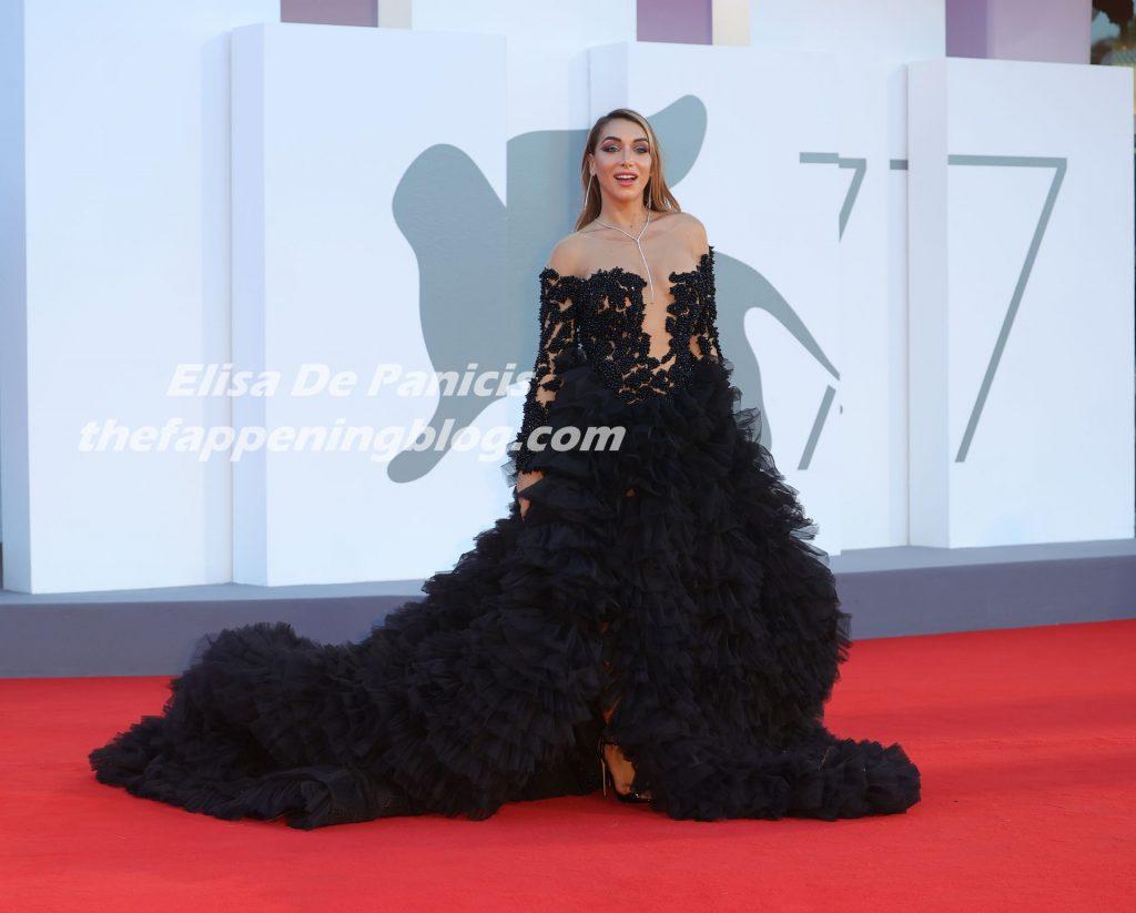 Elisa De Panicis Stuns in a Black Dress in Venice (36 Photos)