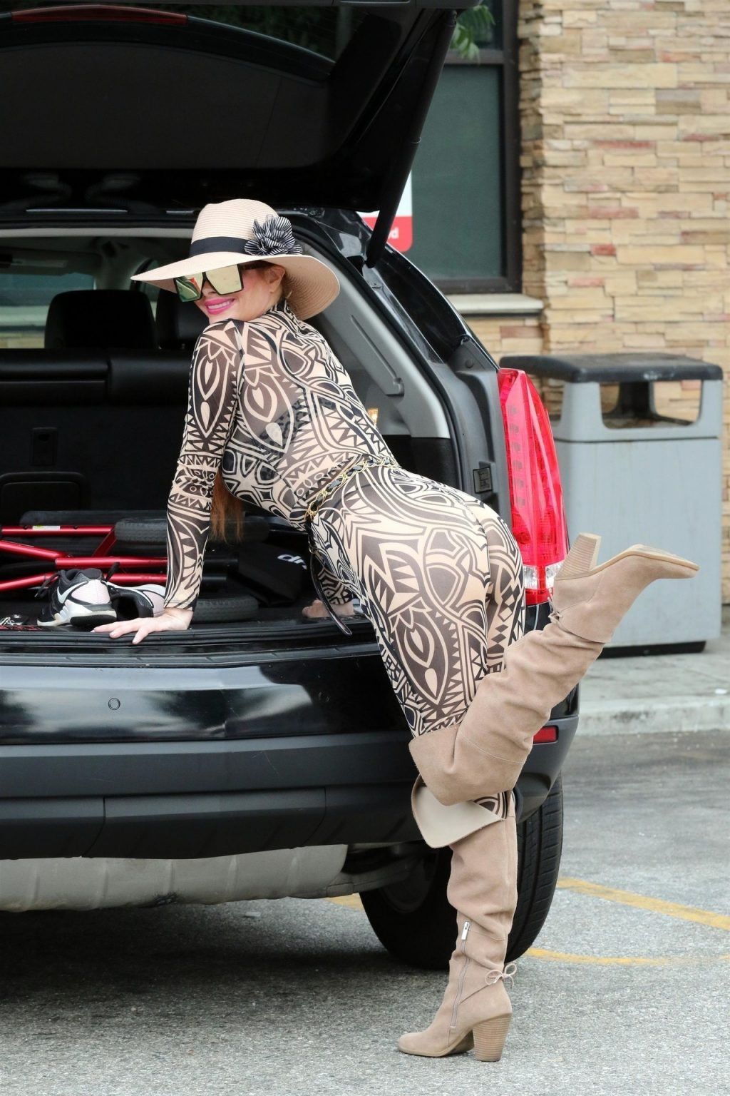 Phoebe Price Poses While Rocking a Huge Hat in LA (36 Photos)