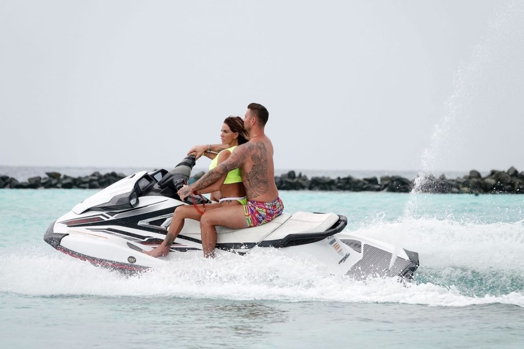 Kate Price & Carl Woods Enjoy Some Fun Jet Skiing while on Holiday in the Maldives (49 Photos)