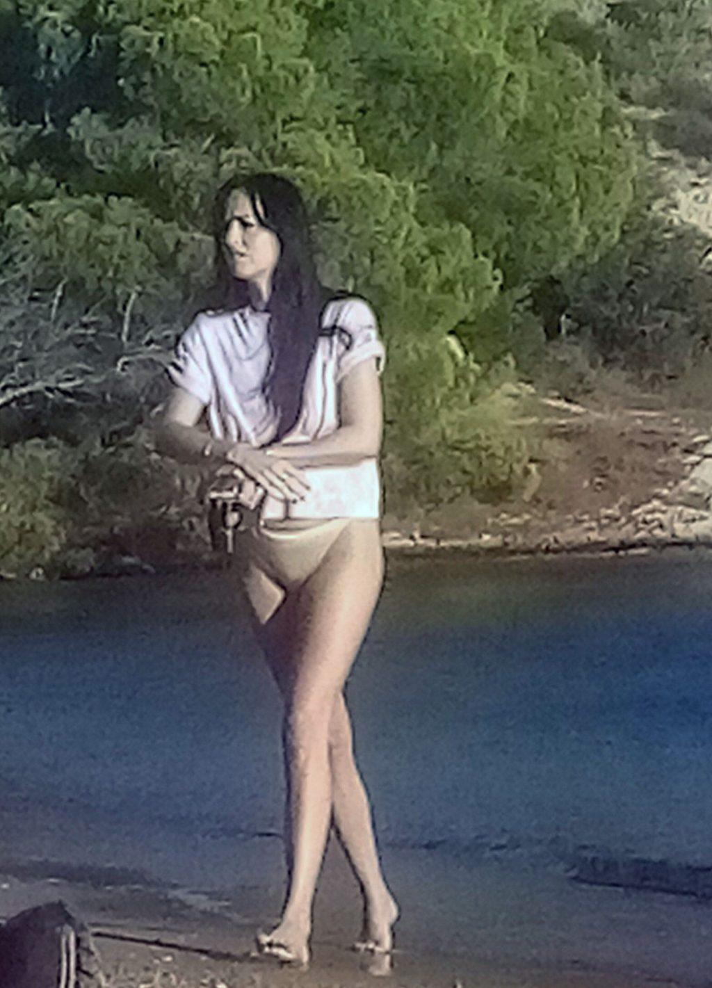 Dakota Johnson Shows Her Tiny Ass at the Beach on Spetses Island (4 Photos)