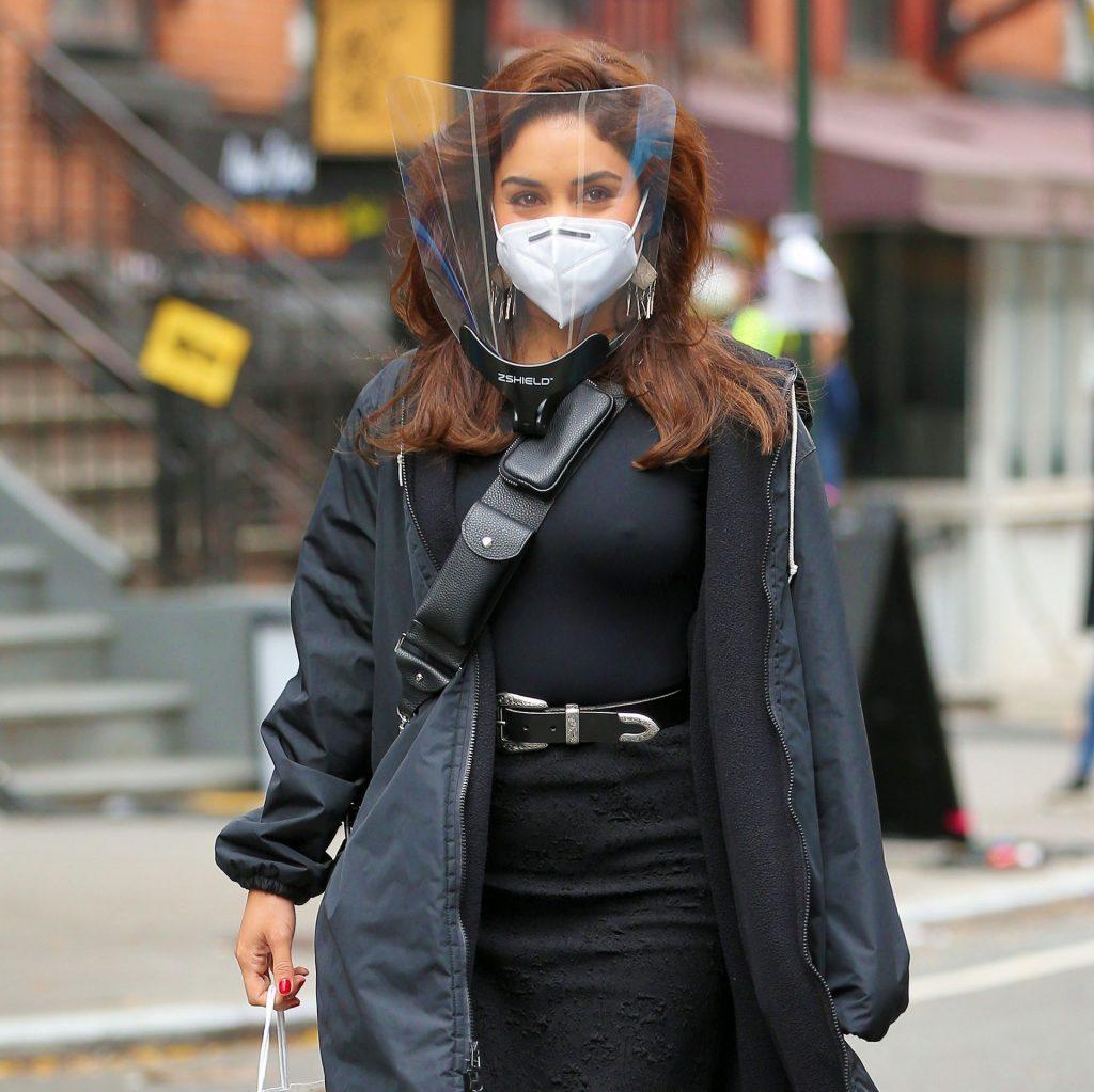 Vanessa Hudgens Walks To The Set Of 'Tik Tik Boom' In East Village In NYC (24 Photos)