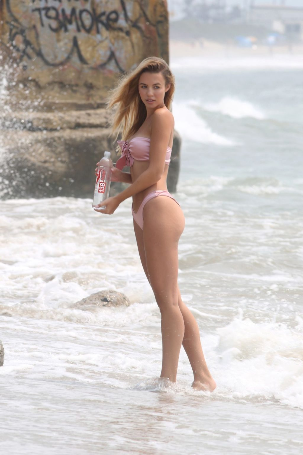Elizabeth Montgomery Poses in a Sexy Pink Bikini on the Beach in Malibu (25 Photos)