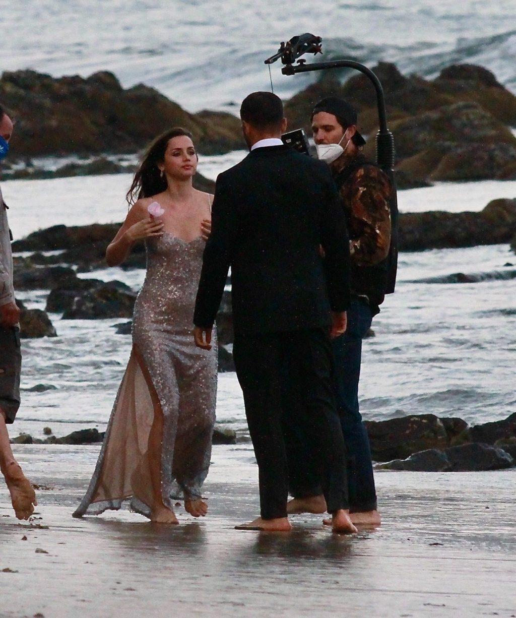 Ana de Armas Shoots a Scene for a Perfume Commercial at the Beach (67 Photos)