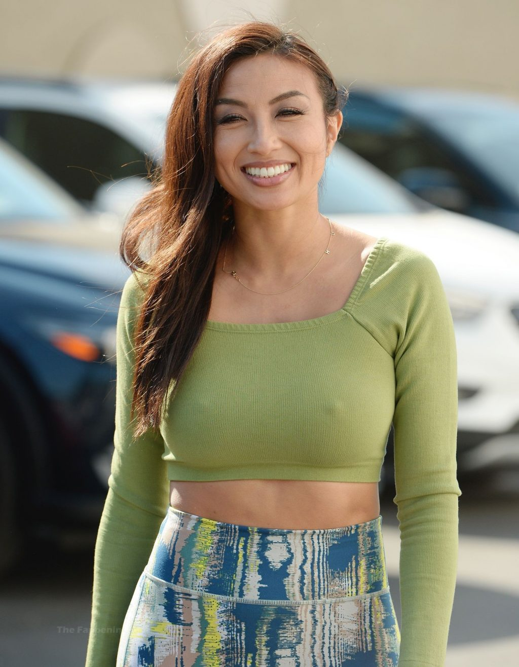 Jeannie Mai Shows Off Her Pokies in LA (11 Photos)