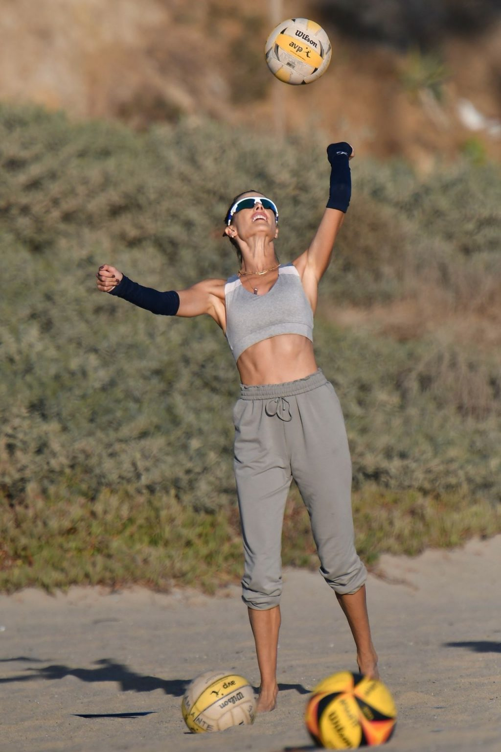 Alessandra Ambrosio Puts in Work on the Sand (132 Photos)