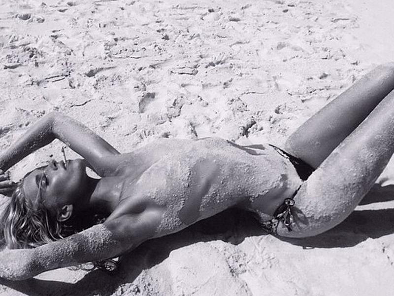 Topless Elsa Hosk Photos