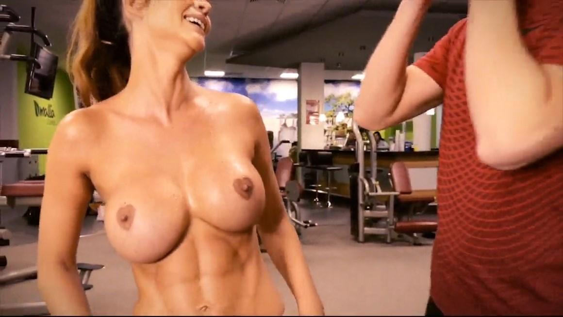 Micaela Schäfer Shows Off Her Sweaty Naked Body