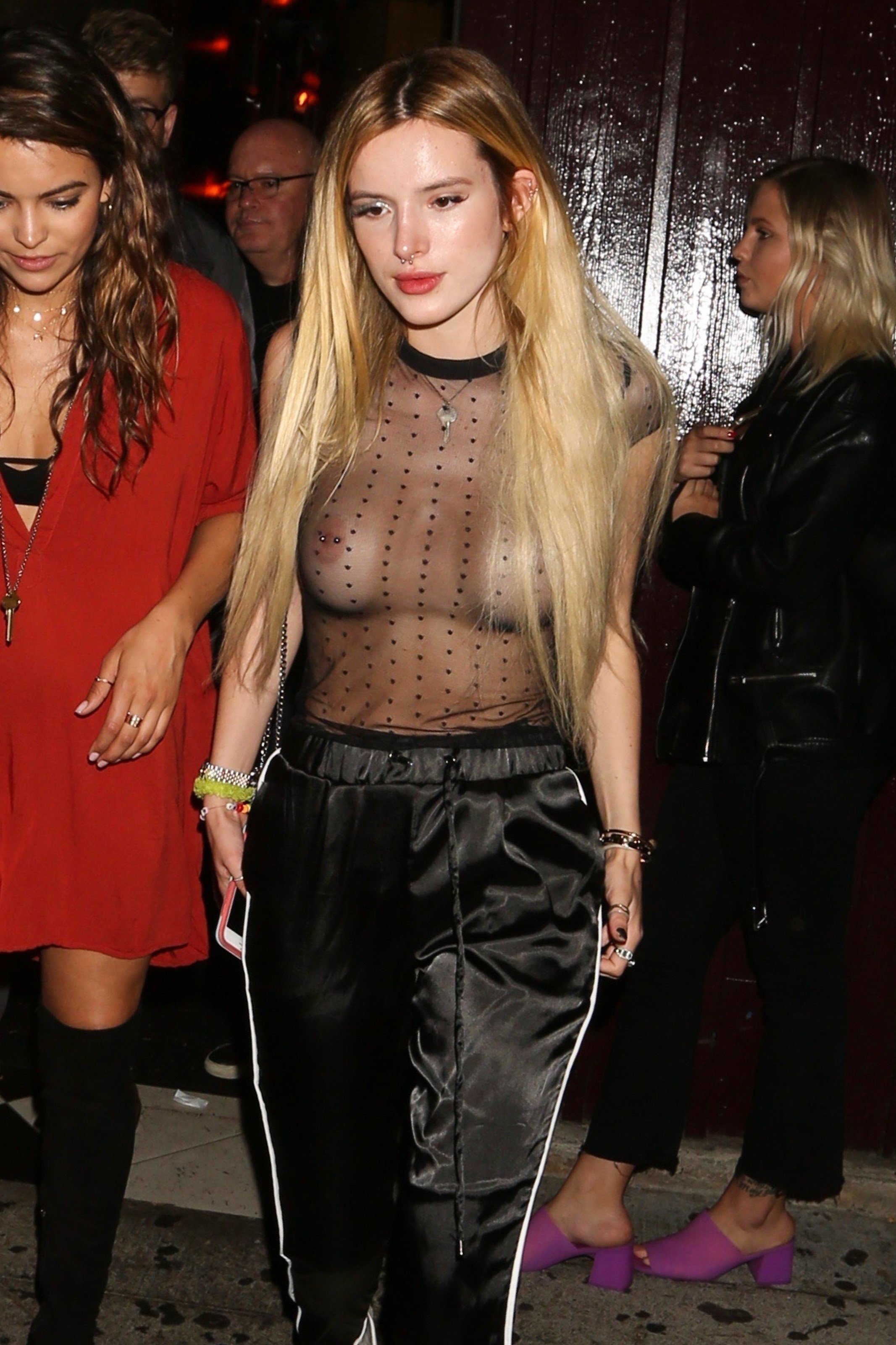 Bella Thorne With Her Pierced Nipples
