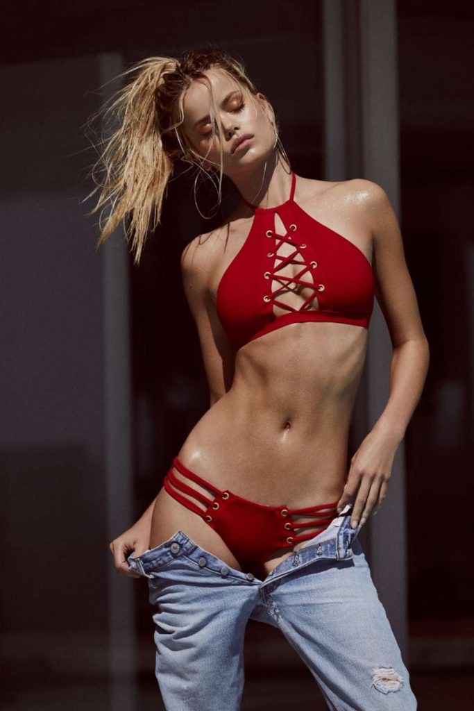 Frida Aasen Poses In Her Bikini