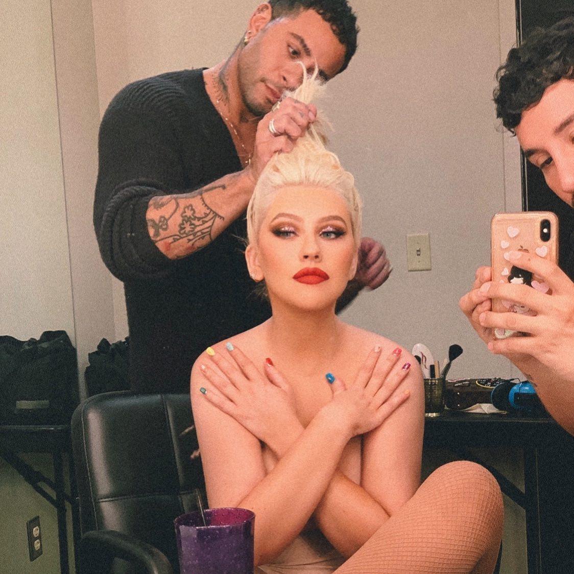 Christina Aguilera Topless