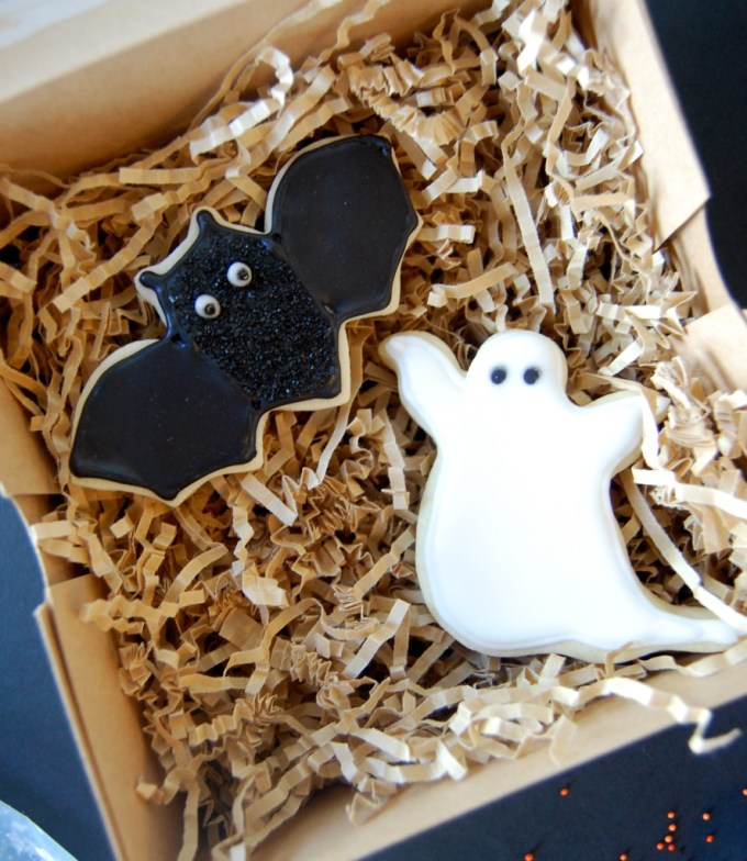 Bat and Ghost Cookies