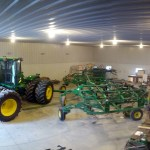 John Deere 9320 and John Deere 2210 Field Cultivator