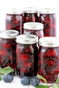 There are a huge variety of juices in the grocery stores, but nothing beats the taste of a freshly opened home canned juice. All you need is to dilute with water to your preferred sweetness, add some canned plums into your glass of juice and enjoy! Oh, how tasty it is, you will not be buoying juice from the store ever again! Organic, clean, and refreshing!