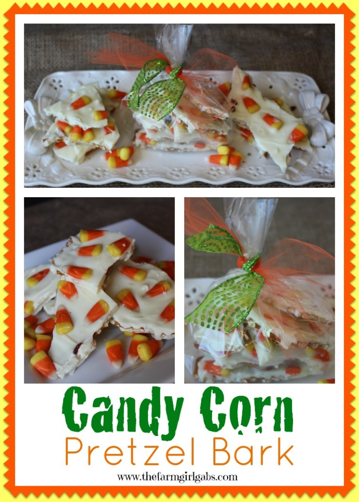 Candy Corn Pretzel Bark is an easy Halloween recipe and treat that kids and adults will love! You won't be able to eat just one piece!