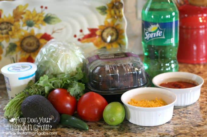 Mexican Lettuce Wraps - Ingredients