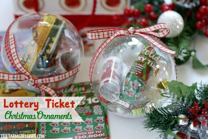 NJ Lottery Ticket Christmas Ornaments The Farm Girl Gabs