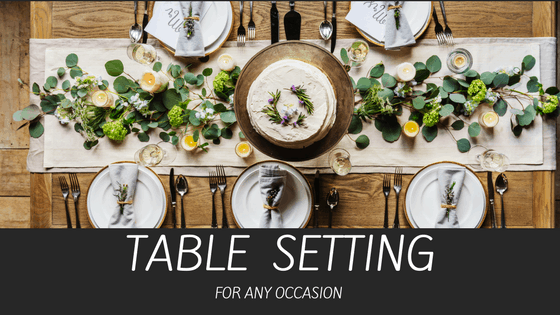 Table Setting For Any Occasion