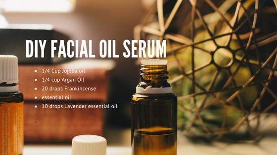 DIY Facial Oil Serum graphic.