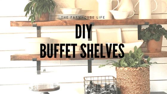DIY Buffet Shelves