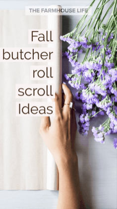 lavender flowers and butcher roll
