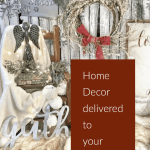 Christmas wreath and decorations