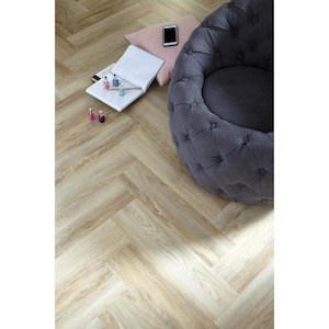 floor tile in herringbone pattern