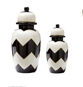 Large chevron vases.