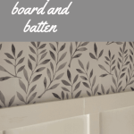 white wall and board and batten