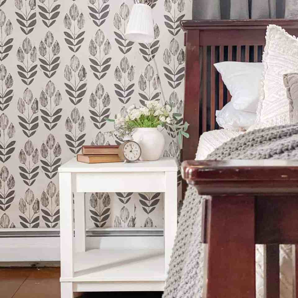 Cozy farmhouse guest bedroom refresh on a budget